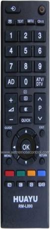 RM-D890 TOSHIBA LCD/LED TV REMOTE CONTROL  TOSHIBA LCD/LED TV REMOTE CONTROL