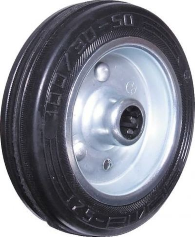Castors, Black Rubber Tyre Wheel Only 160mm ATL9453250K