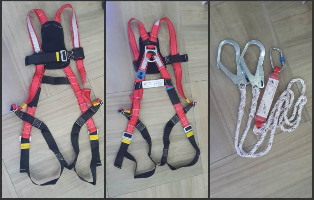 BST Full Body Harness c/w Double Lanyard + Absorber