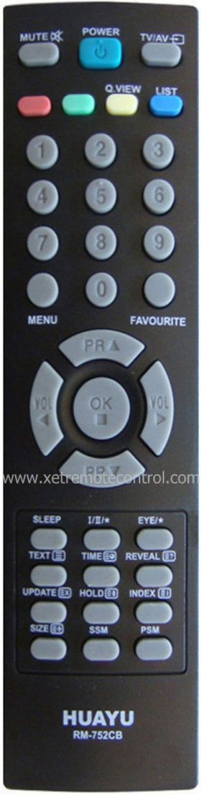 RM-752CB LG LCD/LED TV REMOTE CONTROL