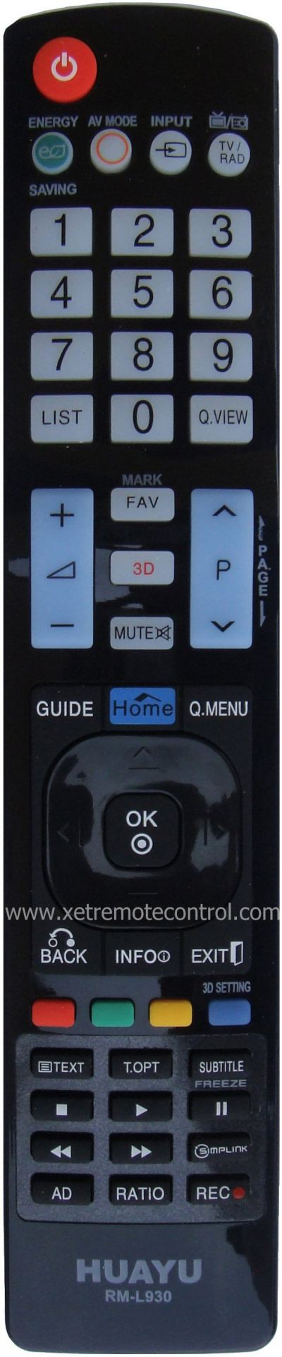 RM-L930 LG LCD/LED TV REMOTE CONTROL