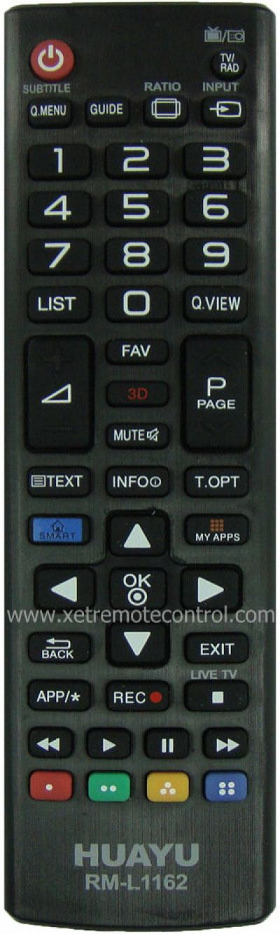 RM-L1162 LG LCD/LED TV REMOTE CONTROL