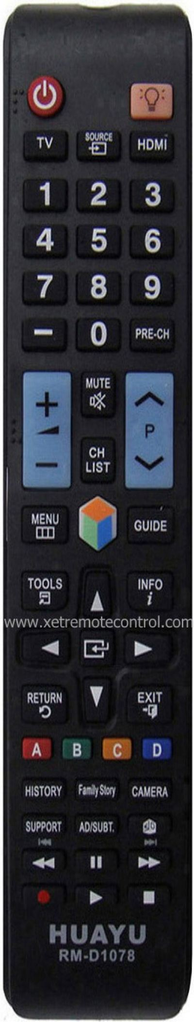 RM-D1078 SAMSUNG LCD/LED TV REMOTE CONTROL