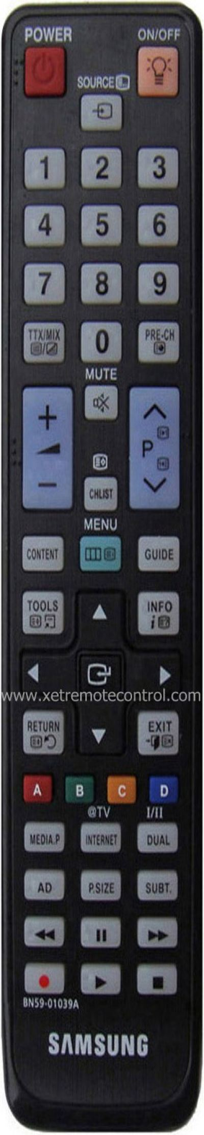 BN59-01039A SAMSUNG LCD/LED TV REMOTE CONTROL