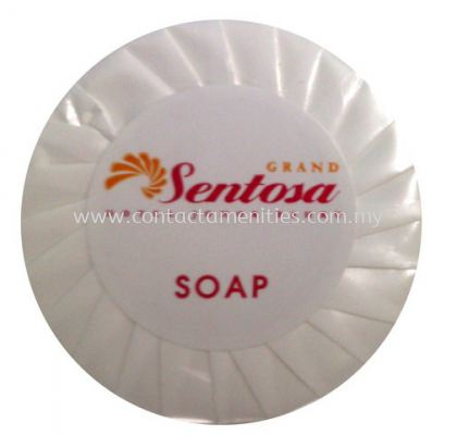 Soap in Pleated Wrapped w/Sticker Logo