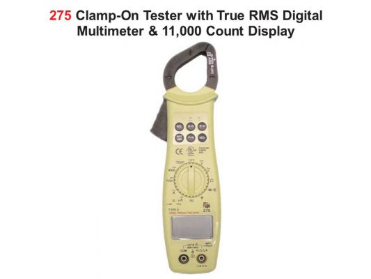 TPI-275 Clamp-On Tester with True RMS Digital Multimeter & 11,000 Count Display