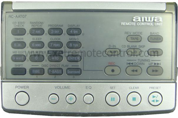 RC-AAT07 AIWA HOME THEATER REMOTE CONTROL (original)
