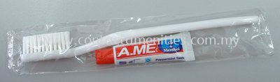Toothbrush & Toothpaste in Polybag