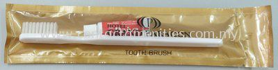 Toothbrush & Toothpaste in Color Plastic Bag w/Logo