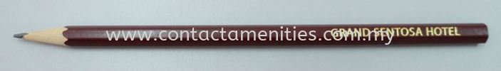 Flat Top Pencil w/Logo Stationery Guest Room Amenities