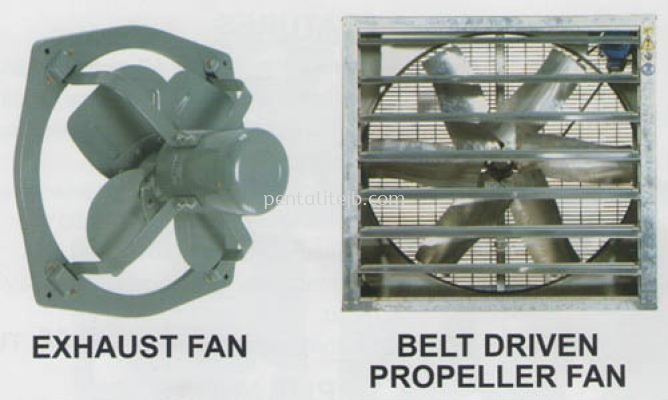 Exhaust Fan & Belt Driven Propeller Fan