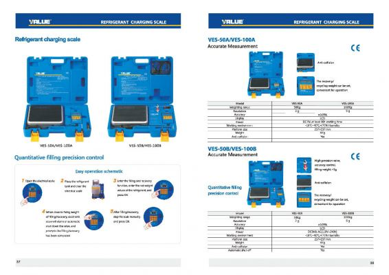 VALUE Automatic And Manual Refrigerant Charging & Recovering Scale