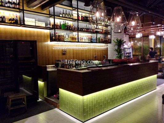 Commercial bar counter with veneer (FREE QUOTATION)