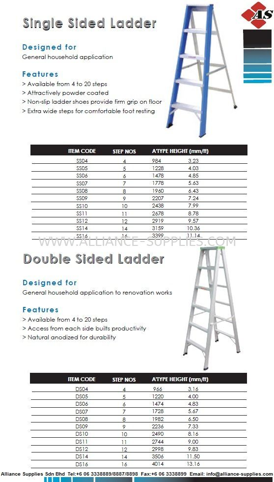 Single Sided Ladder & Double Sided Ladder 22.ACCESS EQUIPMENT