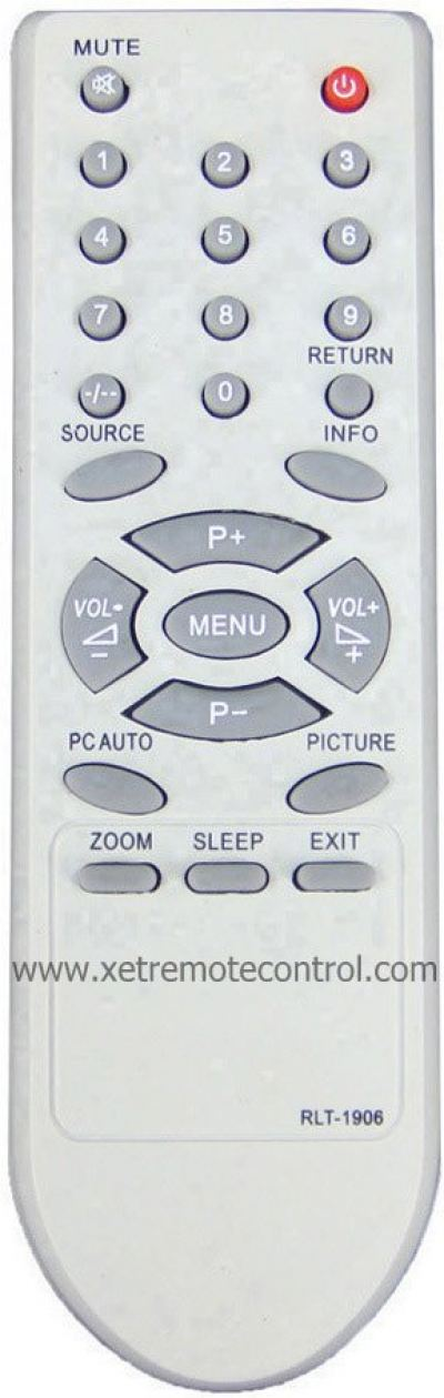 RLT-1906 HITEC LCD/LED TV REMOTE CONTROL