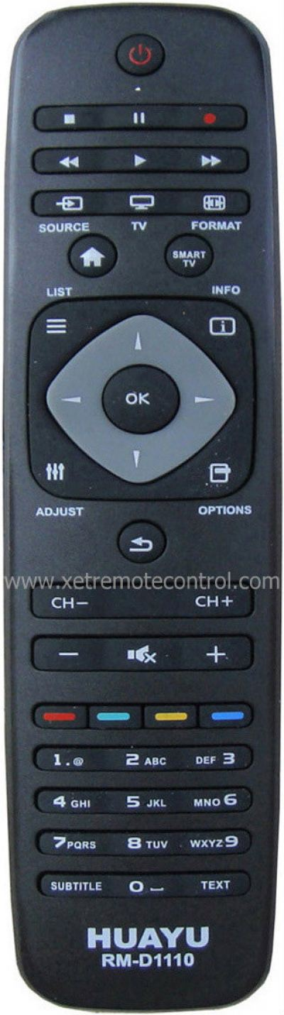 RM-D1110 PHILIPS LCD/LED TV REMOTE CONTROL
