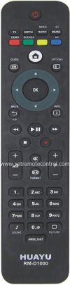 RM-D1000W PHILIPS LCD/LED TV REMOTE CONTROL  PHILIPS LCD/LED TV REMOTE CONTROL