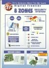 DF 8 Zones DF 3300 Burglar Alarm