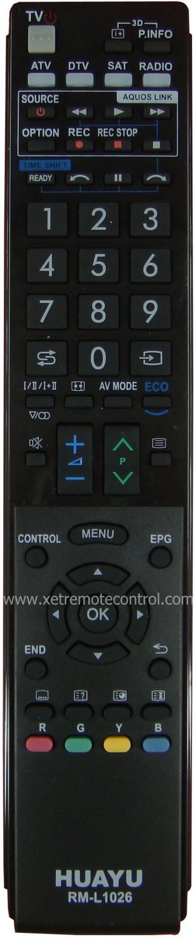 RM-L1026 SHARP LCD/LED TV REMOTE CONTROL
