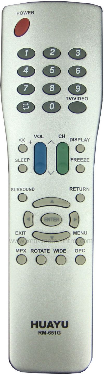 RM-651G SHARP LCD/LED TV REMOTE CONTROL