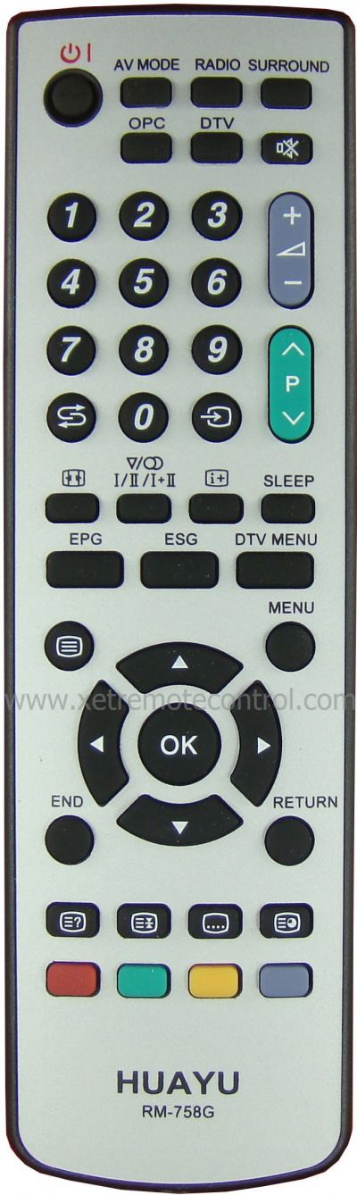 RM-758G SHARP LCD/LED TV REMOTE CONTROL