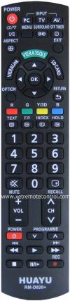 RM-D920+ PANASONIC LCD/LED TV REMOTE CONTROL  PANASONIC LCD/LED TV REMOTE CONTROL