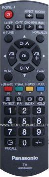 N2QAKB000073 PANASONIC LCD/LED TV REMOTE CONTROL N2QAHB000073 (original) PANASONIC LCD/LED TV REMOTE CONTROL