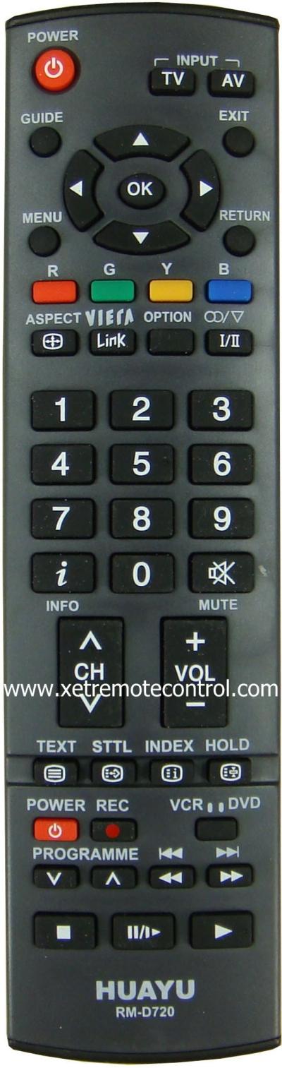 RM-D720 PANASONIC LCD/LED TV REMOTE CONTROL