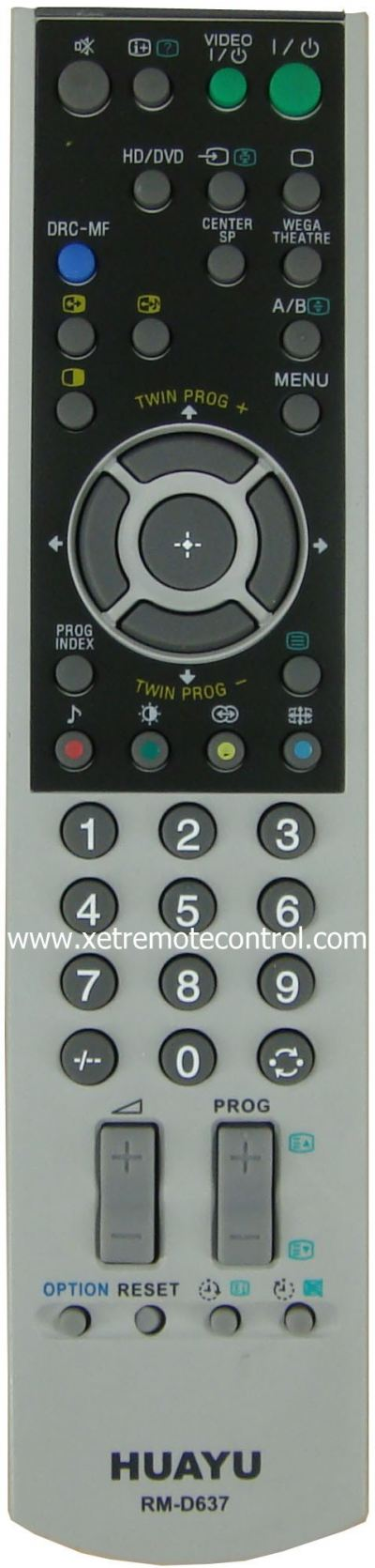 RM-D637 SONY LCD/LED TV REMOTE CONTROL