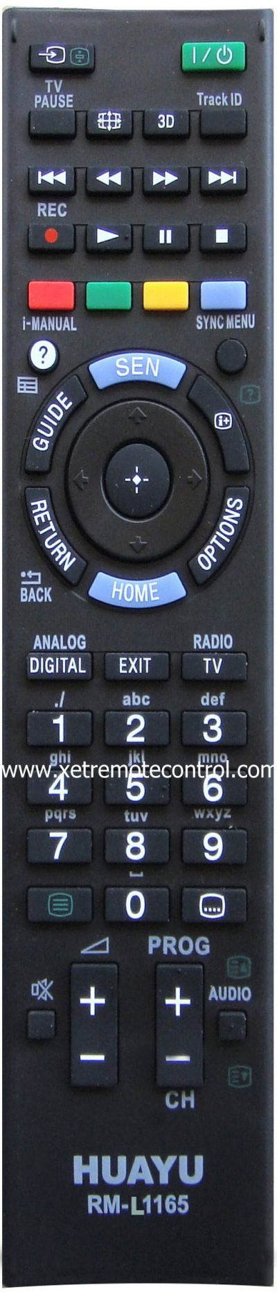 RM-L1165 SONY LCD/LED TV REMOTE CONTROL
