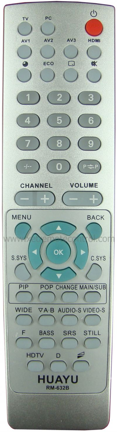 RM-632B SANYO LCD/LED TV REMOTE CONTROL