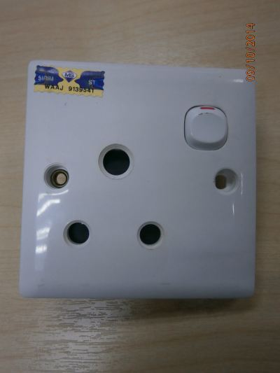 AMBER 15AMP SWITCH SOCKET (W/SIRIM)