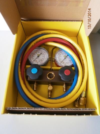 Refco BM2-6-DS-R410A-CCL-60 (c/w 5' Hose) Manifold Set (R410A)