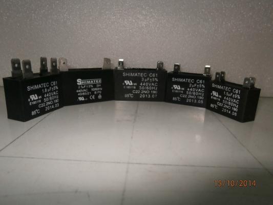 Shimatec Fan Motor Capacitors (1.0 ~ 6.0 UF)