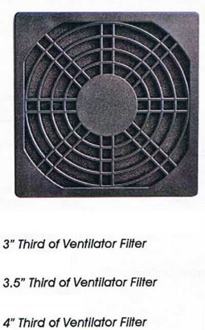 3'', 3.5'', 4'' Third of Ventilator Filter