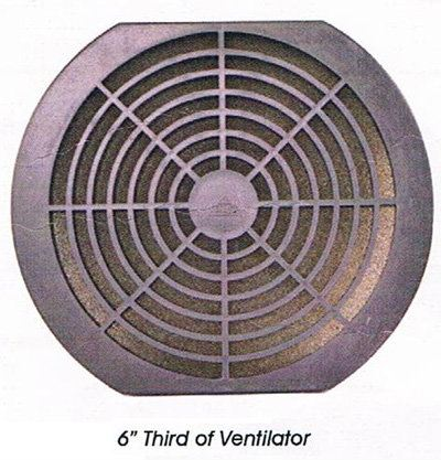 6'' Third of Ventilator