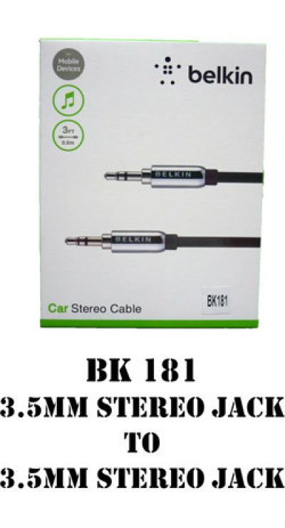 BK181 3.5MM Stereo Jack to 3.5MM Stereo Jack