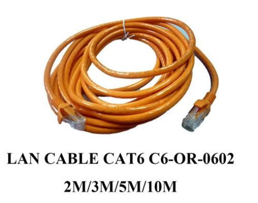 Lan Cable CAT C6-OR-0602 2M / 3M / 5M / 10M
