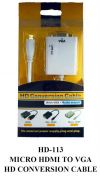 HD-113 Mirco HDMI To VGA HD Conversion Cable VIDEO CONVERTER