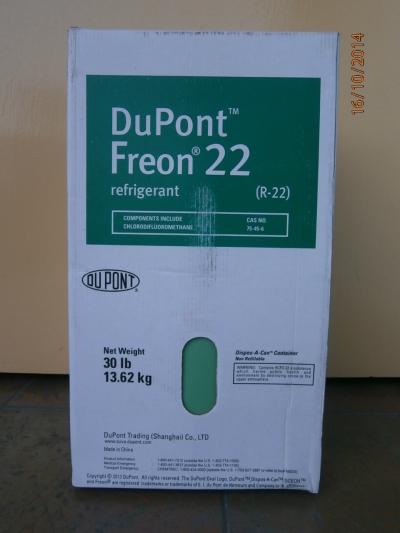 Freon 22 (DuPont) Refrigerant Gas (13.62kg)