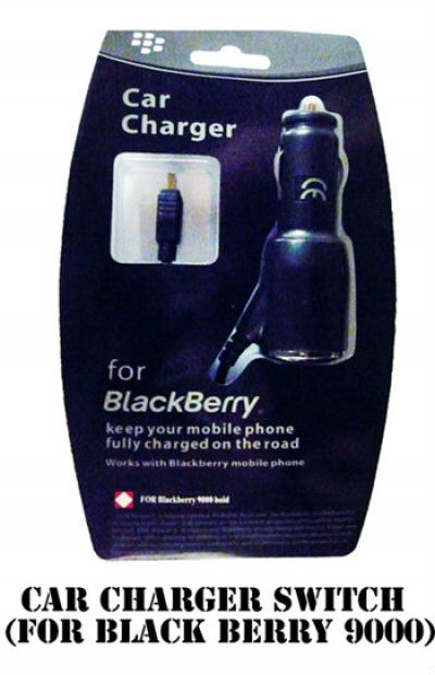 Car Charger Switch (For Black Berry 9000)