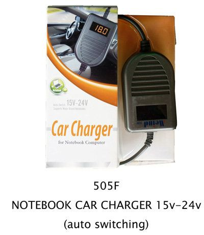 505F NoteBook Car Charger 15V-24V (Auto Switching)