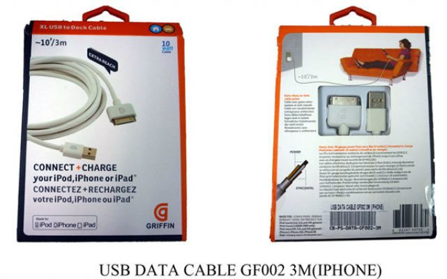 USB Data Cable GF002 3M (IPhone)