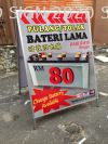 (Bateri) Automotive Shop Double Side A Board