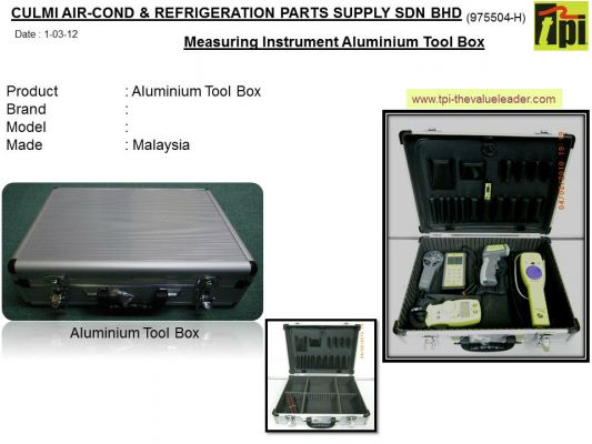 METAL TOOL BOX FOR PUTTING MEASURING INSTRUMENT