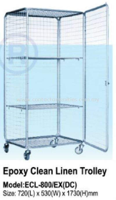 ECL800 - Epoxy Clean Linen Trolley