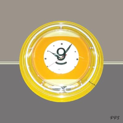 No. 9 - Neon Wall Clock