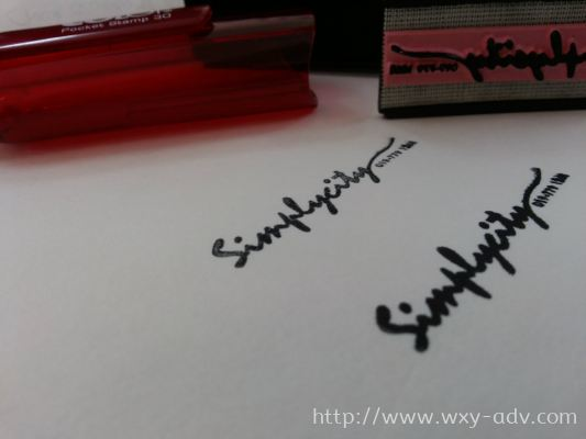 SimplyCity Pocket Stamp  Ruby Colour Cover With Black Ink