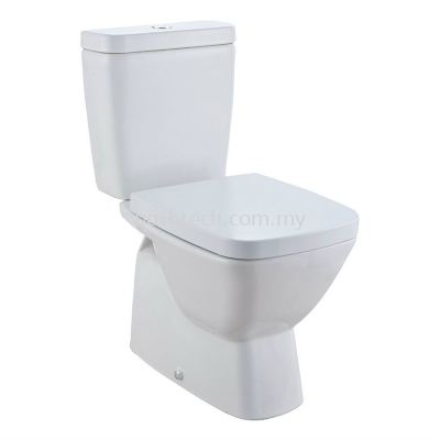 Bergamo Square Close-Coupled WC