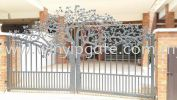 Wrought Iron Swam Main Gate Wrought Iron Swam Main Gate